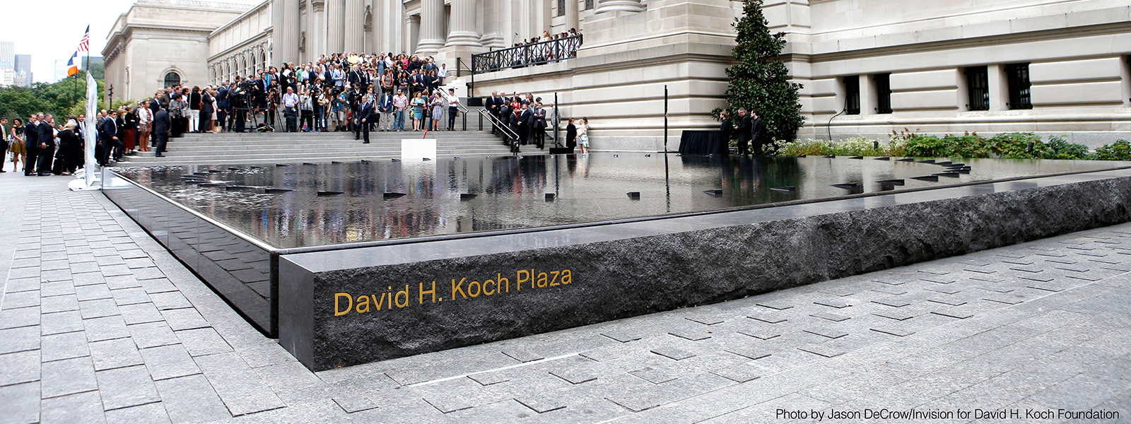 New David H. Koch Plaza at New York's Metropolitan Museum of Art Opens to the Public